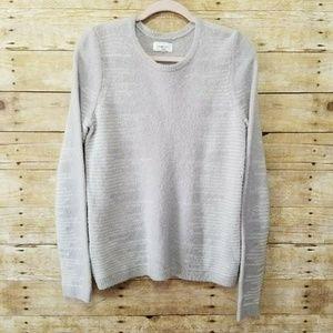Lou & Grey Womens Medium Gray White Merino Wool